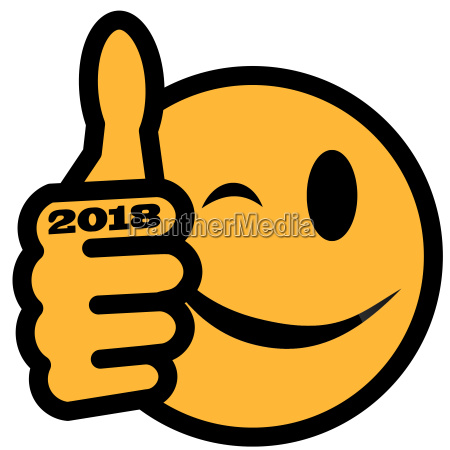 smiley with year 2018 new years