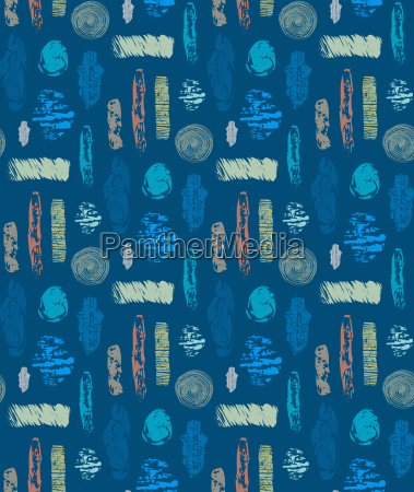abstract seamless pattern with textured shapes