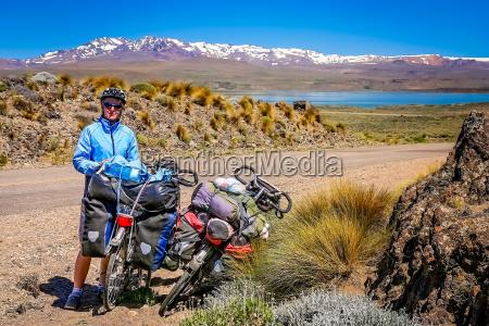 cyclist on a break