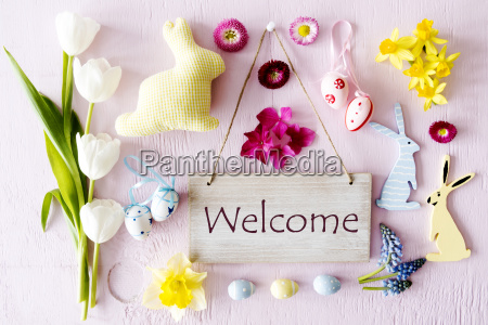 easter, flat, lay, , text, welcome - 23516188