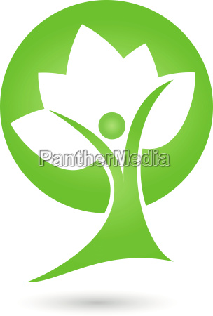 human plant leaves tree logo