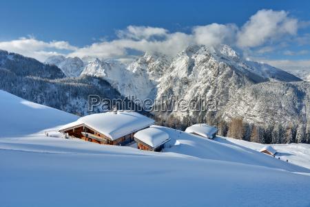 deep snow in berchtesgaden