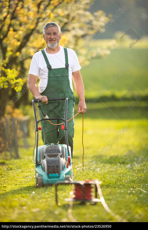 portrait, of, senior, man, gardening, , taking - 23526950