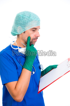 young, doctor, with, clipboard - 23526856