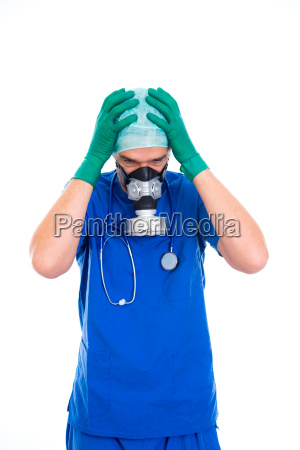 young, doctor, with, gas, mask - 23526858