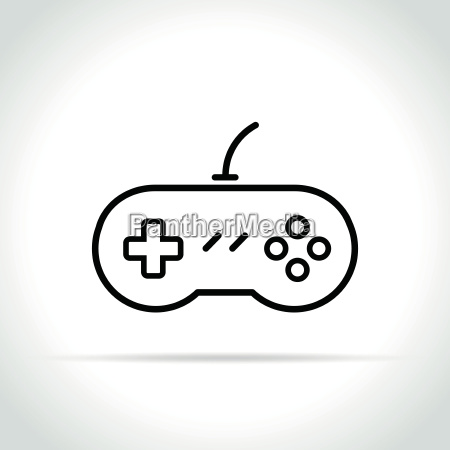 gaming icon on white background