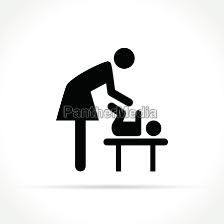 baby changing icon on white background