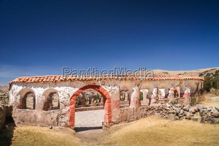 old incan lupaca ceremonial center