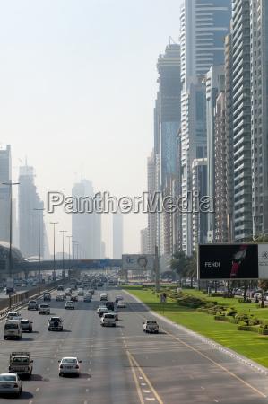 the skyline of skyscrapers in dubai