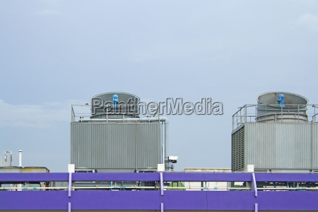 cooling towers on daylight on the