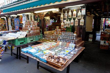 souvenir shop at famous havel market