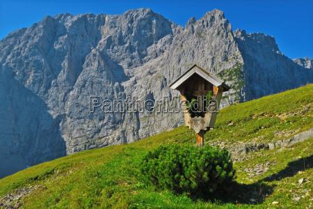 cross in the karwendel