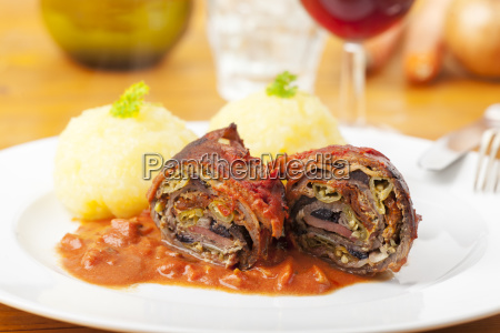 meat roulade on a plate