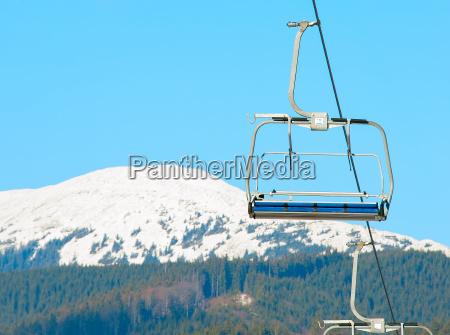cable cars at ski resort