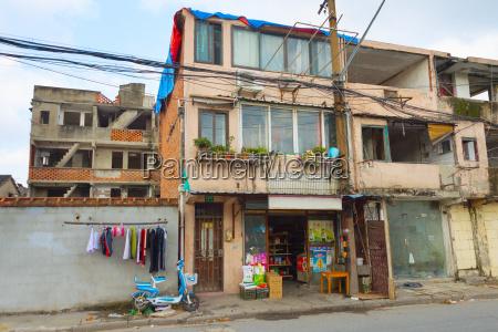 building shanghai slum area china