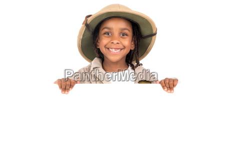 girl, in, safari, costume - 23550904
