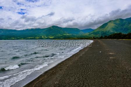 shore of lake villarrica pucon araucania