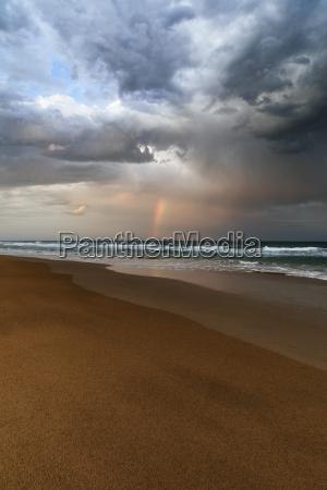 beach, and, ocean, landscape, with, rainbow, - 23552738
