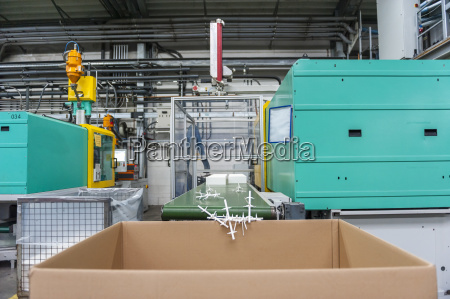 production hall in plastic factory