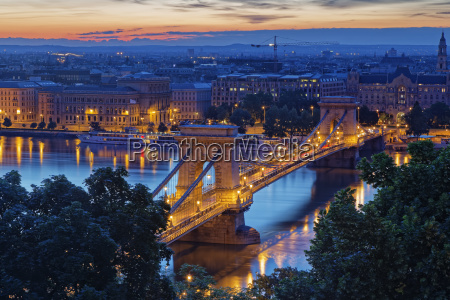 hungary budapest view to pest with