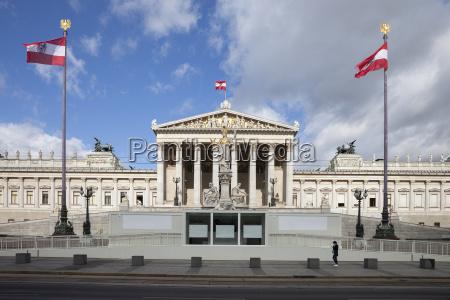 austria vienna view to parliament building