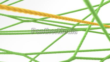 network of strings 3d rendering