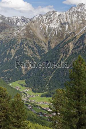 austria tyrol oetztal view on soelden