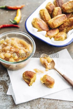 tater tots potato croquettes with chili