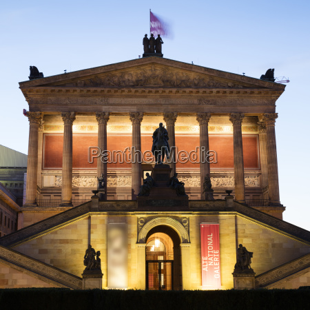 germany berlin lighted old national gallery