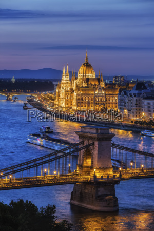 hungary budapest tranquil evening in the
