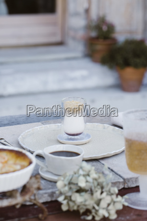 italy laid breakfast table on terrace
