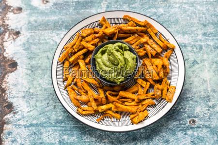 homemade sweet potato fries and bowl