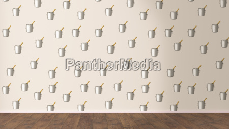 wallpaper with champagne cooler pattern and