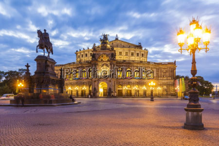 germany dresden semper opera house with
