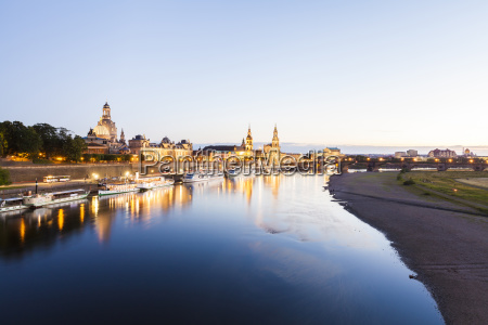 germany dresden city view with elbe