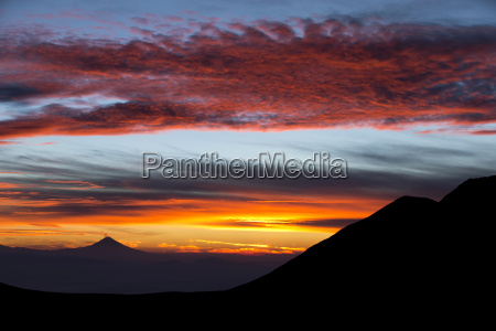 clouds over nevado de toluca landscape