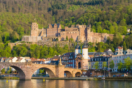 alte brucke old bridge heidelberg castle