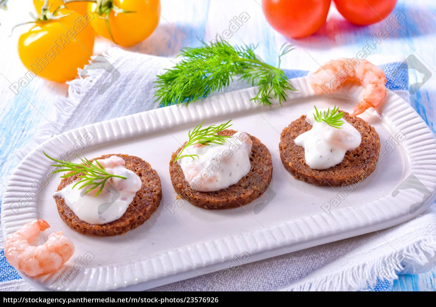 North Sea shrimp, North Sea, healthy, lunch, vegetables, fresh - 23576926