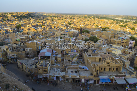 aerial view of town in rajasthan