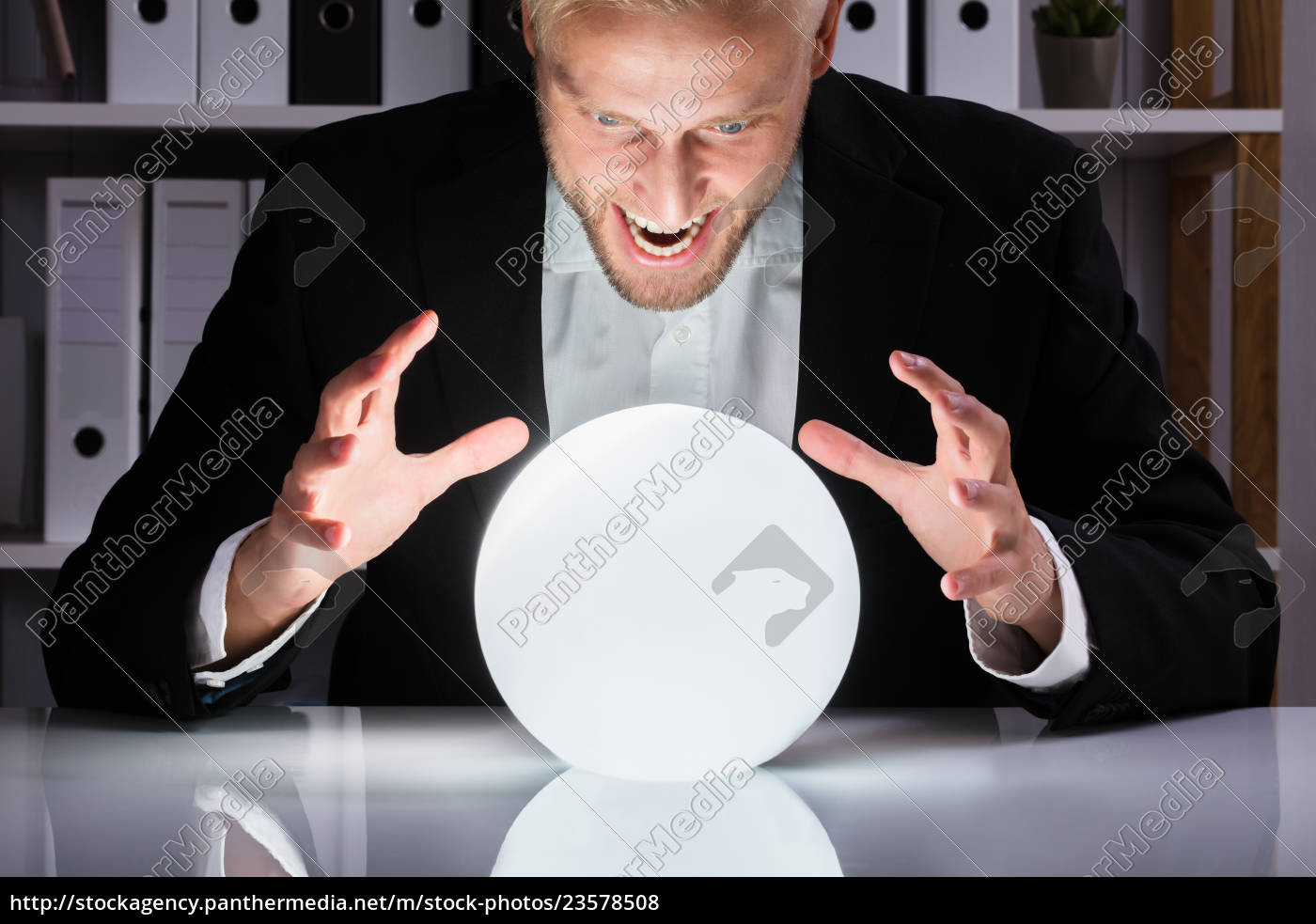 businessman, looking, into, the, future, in - 23578508