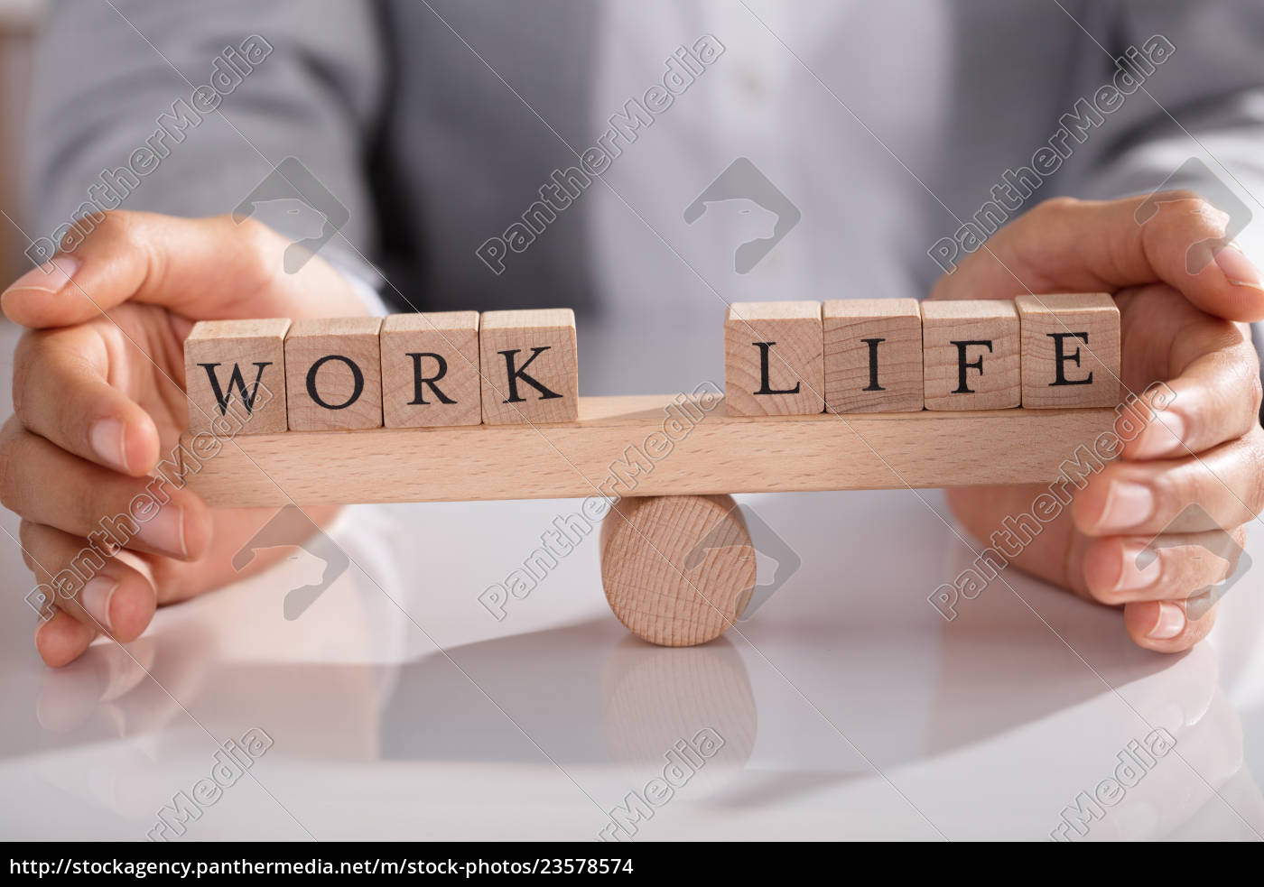 businessperson, protecting, life, and, work, on - 23578574