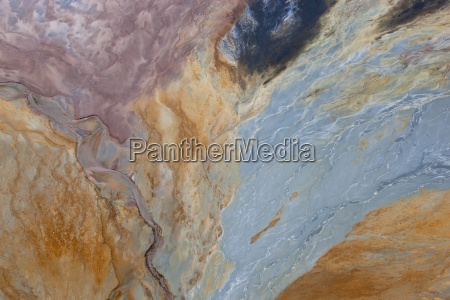aerial shot of oxidized iron minerals