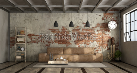 living, room, in, industrial, style - 23583682