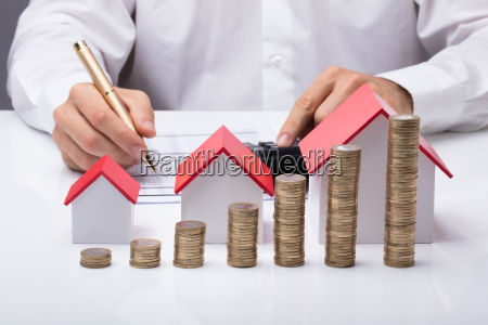 businessman, calculating, invoice - 23584768