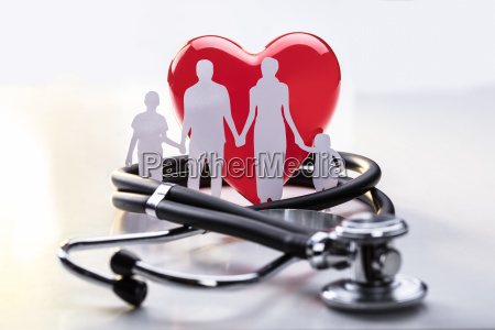 family, cut-out, and, stethoscope - 23584708
