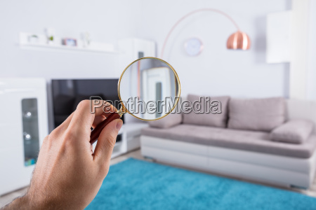 person, holding, magnifying, glass - 23584728