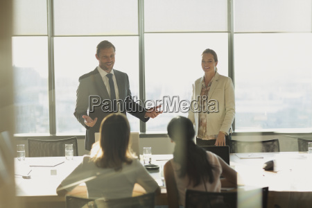 businessman talking in conference room meeting