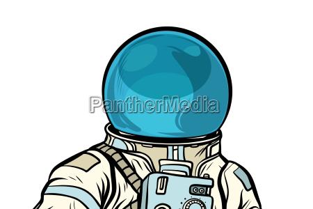 portrait of astronaut helmet isolated on