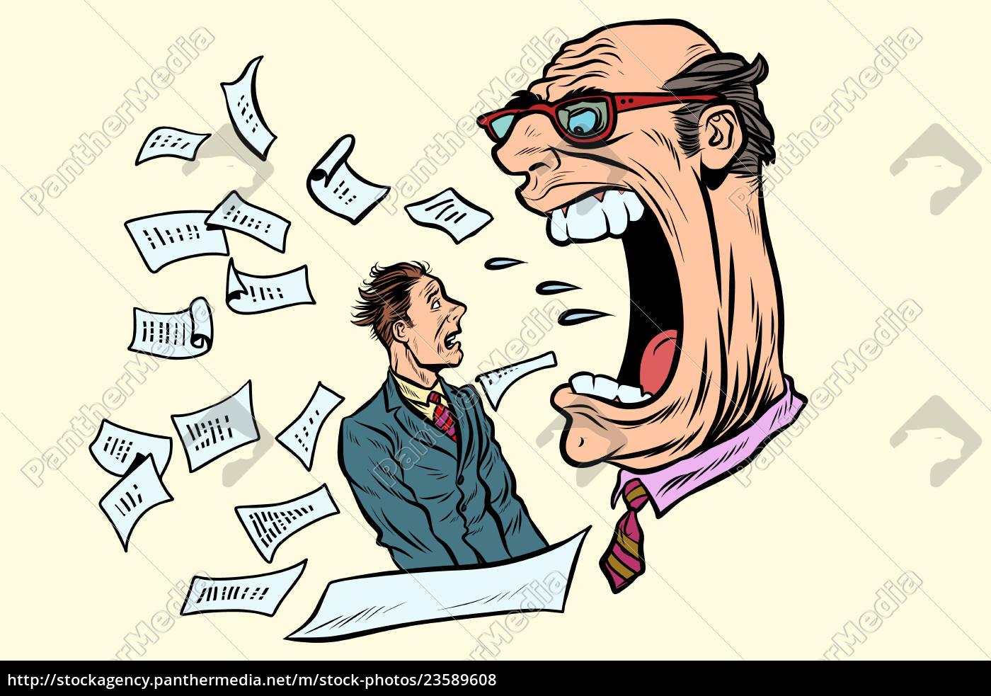 the, boss, yells, at, a, subordinate. - 23589608