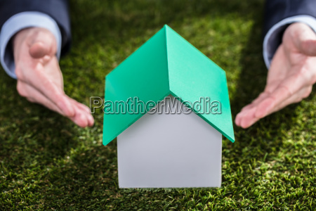 close-up, of, a, house, model, on - 23595606